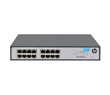 Коммутатор HP 1420-16G Unmanaged Switch, 16xGE ports L2, LT Warranty