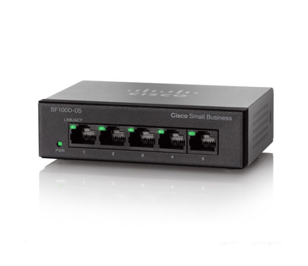 Коммутатор Cisco SB SF110D-05 5-Port 10/100 Desktop Switch