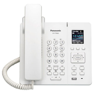 Беспроводной IP-DECT телефон Panasonic KX-TPA65RU White, для KX-TGP600RUB